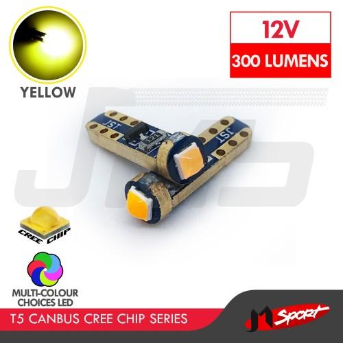 Foto Produk Lampu Mobil Motor Speedo Dashboard Panel T5 Canbus Cree 1SMD - Yellow dari Jaya Motorsport