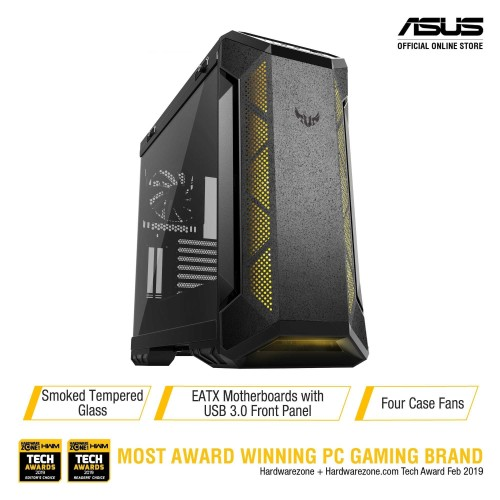 Foto Produk ASUS TUF Gaming GT501 Case with Metal Front Panel, Tempered Glass dari Asus Component