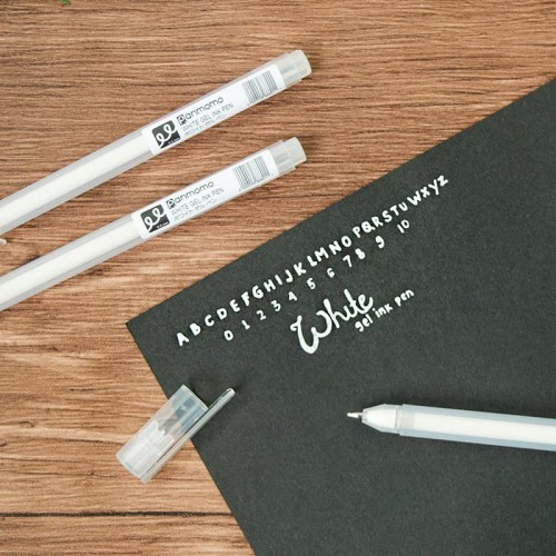 Foto Produk Flower White Gel Ink Pen / Pulpen Gel / Pulpen dari Pinkabulous