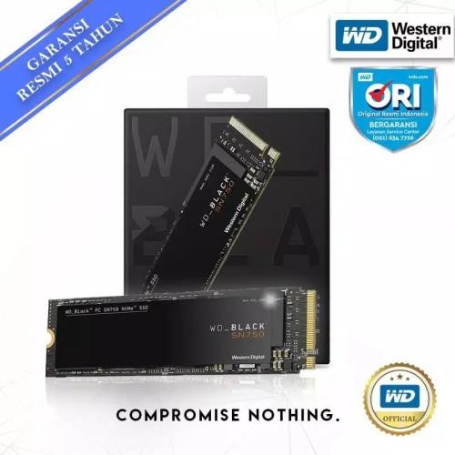 Foto Produk Promo SSD WD Black 500GB SN750 M.2 NVMe dari WD Official Store