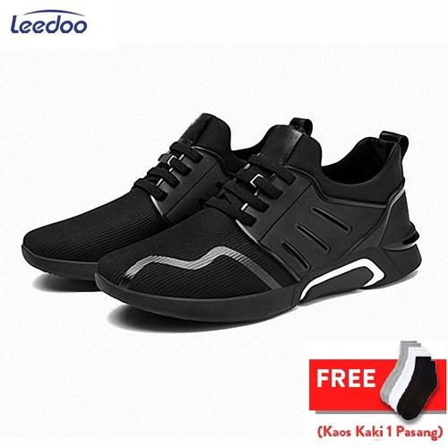 Foto Produk Leedoo Sepatu Sneakers Pria Import Men Shoes Young Lifestyle F15 - Hitam, 40 dari Leedoo
