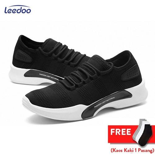 Foto Produk Leedoo Sepatu Sneakers Pria Import Men Shoes Young Lifestyle MR205 - Hitam, 39 dari Leedoo