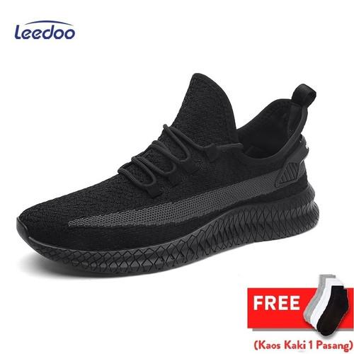 Foto Produk Leedoo Sepatu Pria Sepatu Snaekers Sepatu Pria Casual MR105 - Hitam, 39 dari Leedoo