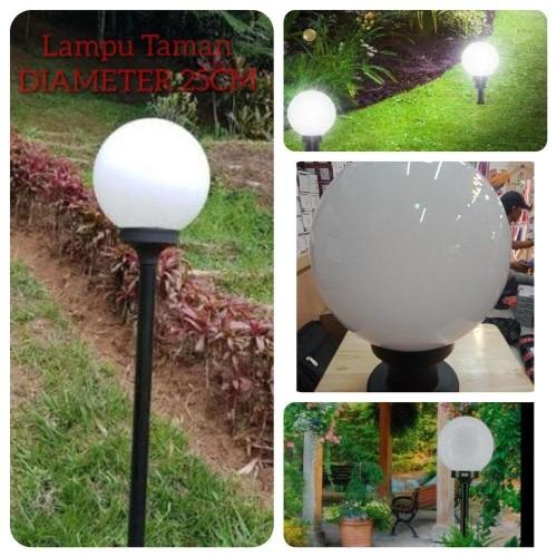 Jual Kap Lampu Taman Bulat Putih Susu Fitting E27 Diameter 25cm Jakarta Selatan Najwa Store30 Tokopedia