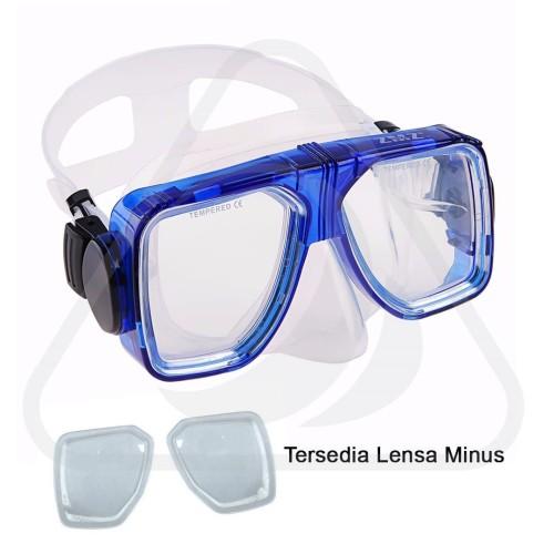 Foto Produk Mask Lensa Minus Snorkling Diving Pacific Zeepro Kacamata Selam Goggle - Hitam dari Zeepro Bali