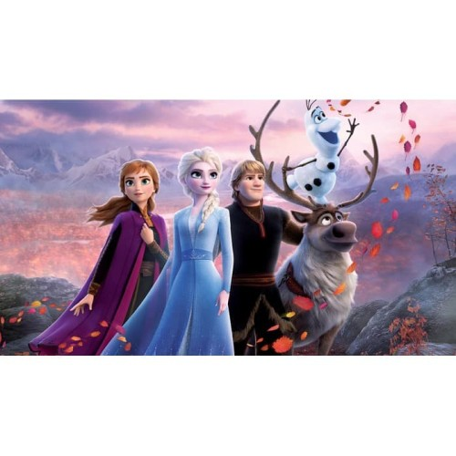Foto Produk Frozen 2 3D Wallpaper Dinding | Wall Sticker| Anak Frozen Elsa & Anna dari Yijiaren Store
