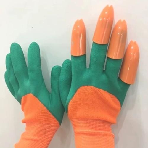 Foto Produk Sarung Tangan berkebun dengan Cakar garden gloves latex tipe baru dari Biji Benih