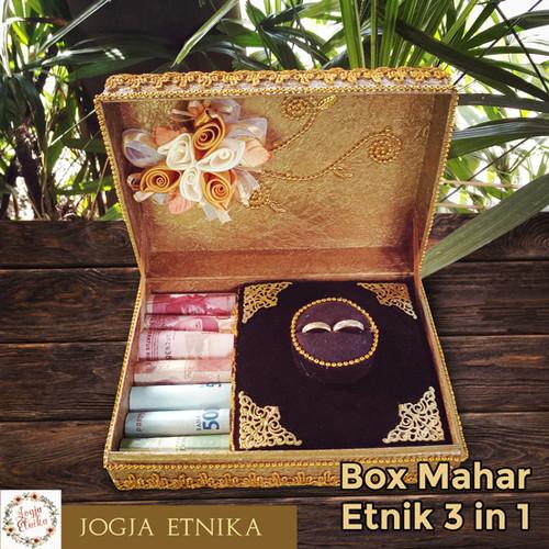 Foto Produk Kotak Cincin / Box Cincin / Mahar Pernikahan / Tempat Perhiasan Pernik - Gold dari Jogja Etnika