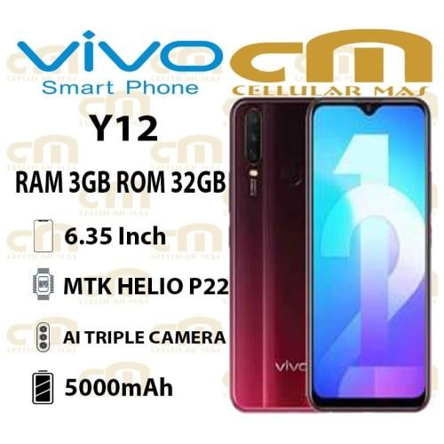 Foto Produk Vivo Y12 3/32 RAM 3GB ROM 32GB GARANSI RESMI VIVO - Merah dari Cellular Mas