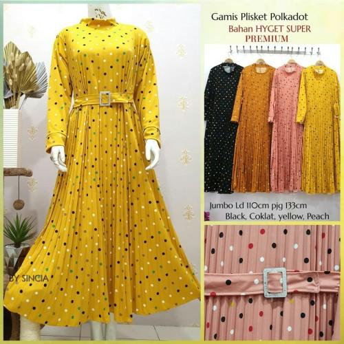 Foto Produk Gamis plisket polkadot warna dari Sethyajaya Collection