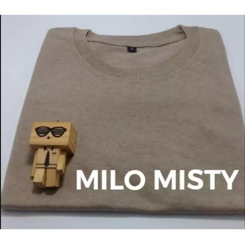 Foto Produk Baju Kaos Polos Oblong Bandung Coklat Muda MILO MISTY cewek cowok - S dari Anwar Online Shop