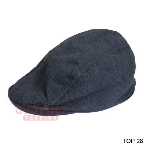Foto Produk Topi Patino Flat Hat Keren - Abu Tua dari Gudang Fashion