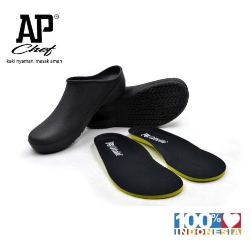 Foto Produk Termurah Sepatu Chef Sepatu Dapur Karet - Ap Chef 38-43 Black - By Ap dari Kerry Onlineshop