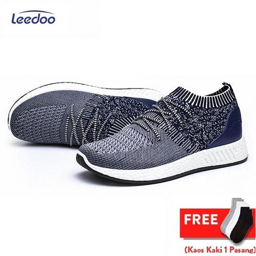 Foto Produk Leedoo Sepatu Sneakers Pria Sepatu Pria Sepatu Slio On Pria SP201 - Abu-abu, 43 dari Leedoo