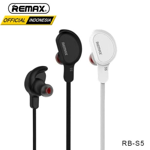 Foto Produk REMAX Bluetooth Earphone RB-S5 - BLACK dari Remax Indonesia Official
