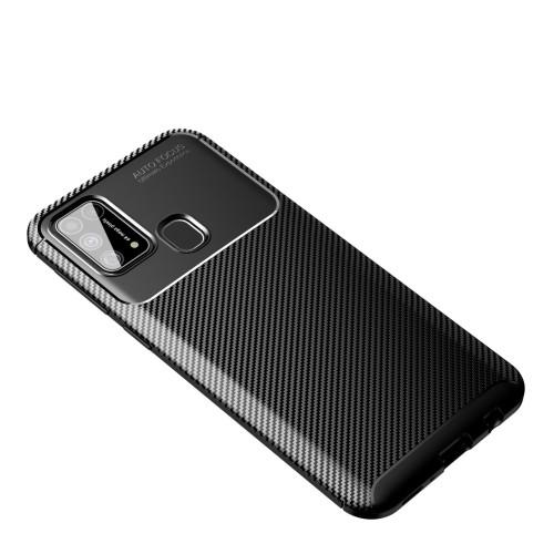 Foto Produk Case Samsung M31 Rugged Armor Silicone Carbon Soft Casing - Hitam dari Pine Premium Gadget Acc