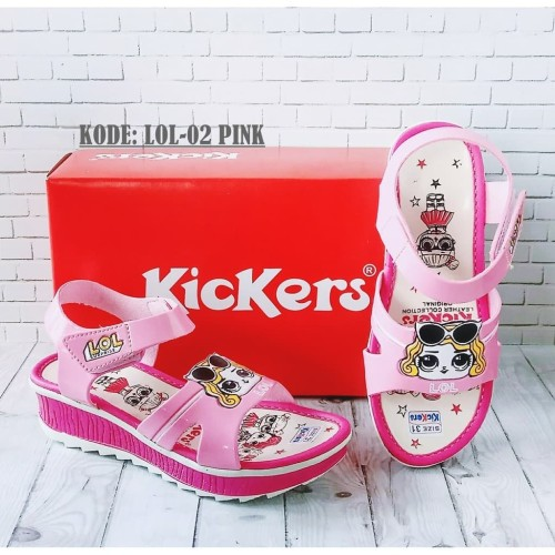 Foto Produk Sandal anak kickers perempuan sendal murah / sendal lol hello kitty - Merah, HELLO KITTY dari Ramadhanis