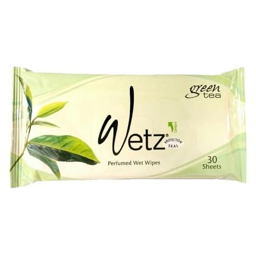 Foto Produk Wetz Natural Wet Wipes 30'S Green Tea dari Raffardhan olshop