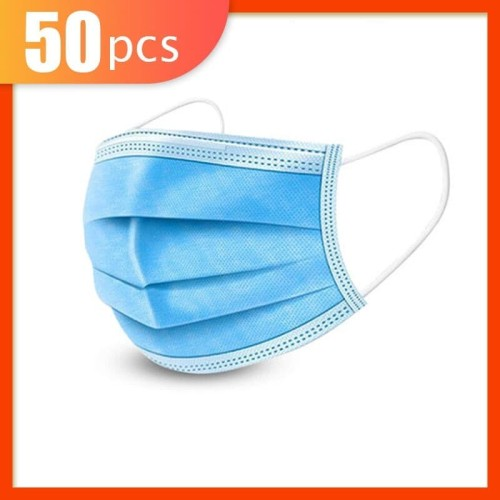 Foto Produk Masker 3 Ply 3Ply isi 50 disposable Surgical mask Masker Bedah Earloop dari lbagstore