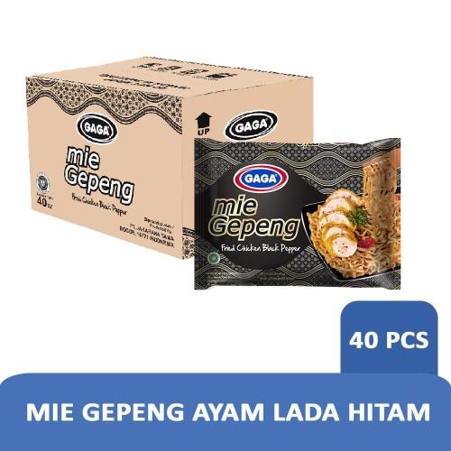 Foto Produk Mie Gepeng Goreng Ayam Lada Hitam 75g-1 Karton (isi 40 pcs) Hrg Grosir dari Gaga Official Store
