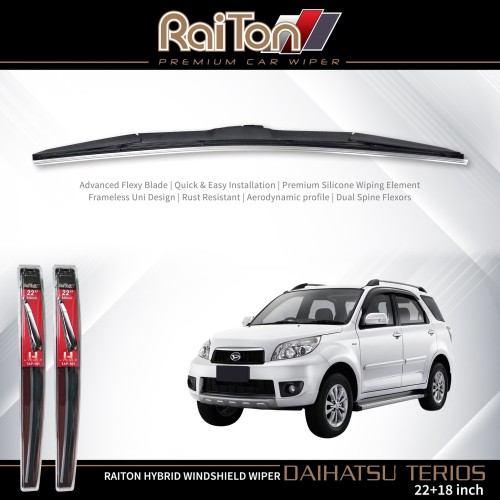 "Foto Produk Raiton Wiper Hybrid Sepasang Kaca Depan Mobil Daihatsu Terios 22""&18"" dari Raiton"
