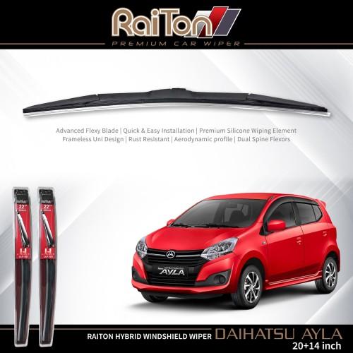 "Foto Produk Raiton Wiper Hybrid Sepasang Kaca Depan Mobil Daihatsu Ayla 20"" & 14"" dari Raiton"