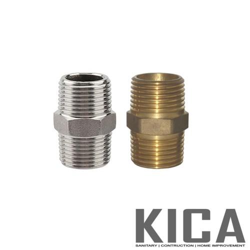Foto Produk Double Nepel / Double Nipple 1/2 inch x 1/2 inch ASLI KUNINGAN dari Kian Citra Abadi
