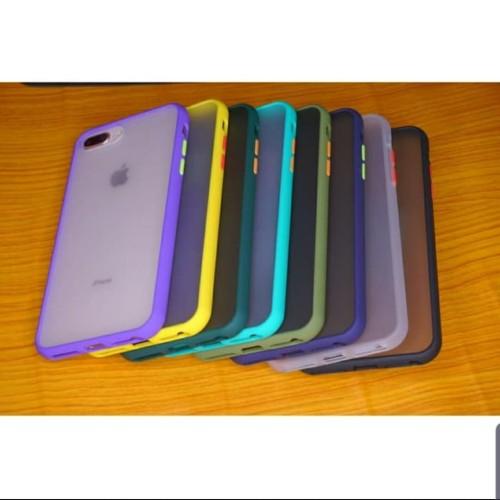 Foto Produk Iphone 7 Plus 7+/8+ Soft Case Matte Armor Colored Froasted Macaron dari sense accessories