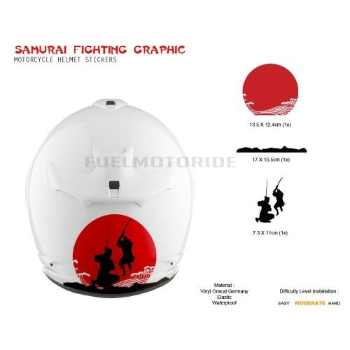 Foto Produk Sticker Dekorasi Helm Samurai Fighting Arai Shoei Kyt Ink HJC Suomy dari Fuel