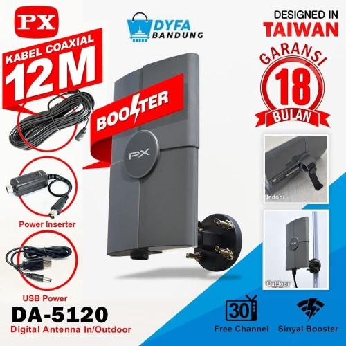 Foto Produk Antenna PX 4K DA5120 TV digital HD Indoor Outdoor DA 5120 PX DA-5120 dari dyfa bandung