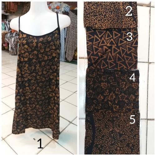 Foto Produk Baju Tidur Dress Tali Satu Coklat dari Batik mbak siti