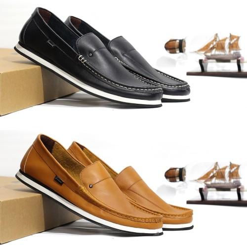 Foto Produk Sepatu Pantofel Pria Casual Kulit Asli Geovani S - G08 - Cokelat, 40 dari Cevany Official
