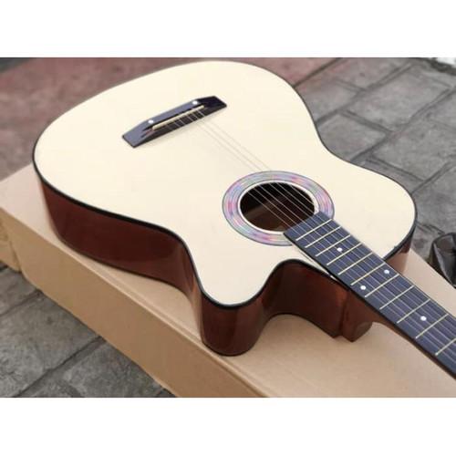 Foto Produk Gitar akustik Yamaha Hitam bonus tas dan senar - Coklat Natural dari Blaze Music