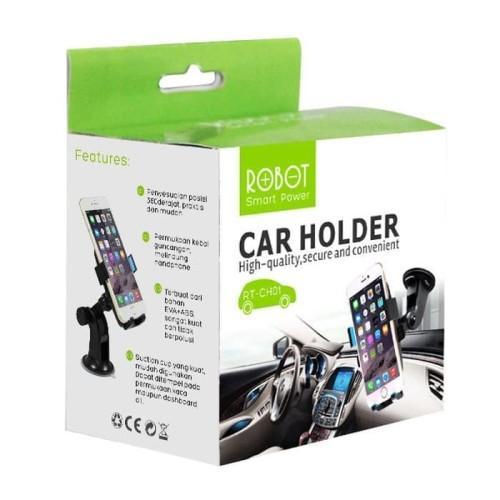 Foto Produk ROBOT RT-CH01 HOLDER MOBIL PHONE CAR HOLDER STAND ORIGINAL BRAKET HP dari MrThebest