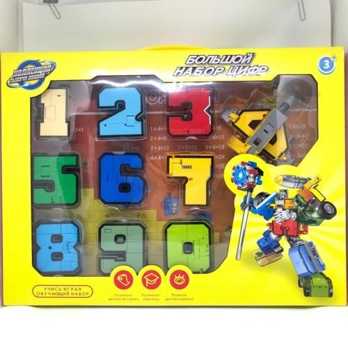 Foto Produk Mainan anak rangkai robot / transformer angka berubah 1 set puzzle dari bintangjaya toys