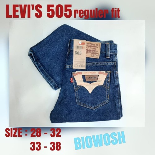 Foto Produk Celana Jeans Merk Levis Denim Biru Klasik Grade Original Harga Murah - Biru, 38 dari Bebez  Shop