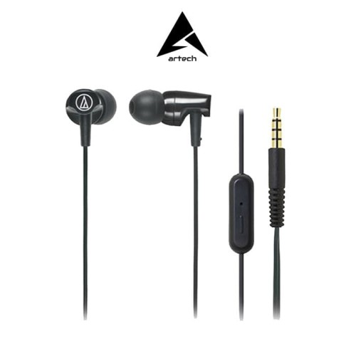 Foto Produk Audio-Technica ATH-CLR100iS Earphones - with Mic - Hitam dari ARTech Online Store