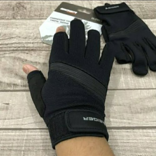 Foto Produk Sarung Tangan Motor EIGER Daily Riding Glove Combine 2 Jari - M dari wijaya outdoor jatiuwung