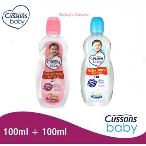 Foto Produk Cussons Baby Oil 100ml+100ml / Cussons Baby Oil - pink dari Baby's-Store