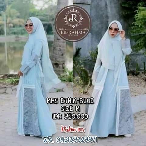Foto Produk MHS etnik blue dari Errahma Boutique