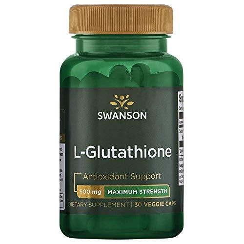 Foto Produk Swanson Amino Acid Maximum Strength L-Glutathione 500 Milligrams 30 Ve dari Exborders