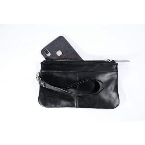 Foto Produk Genuine Leather Pouch Wallet Mini SImpel by Aldis Leather Black dari ALdis Leather