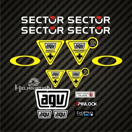 Foto Produk Paket Stiker Visor Helm AGV SHOEI ARAI LS2 Sector dari Stiker Kingdom
