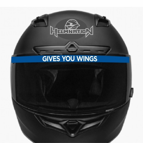 Foto Produk Stiker Visor Helm Gives You Wing 1x20 Cm dari Stiker Kingdom