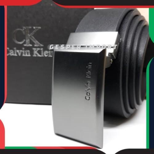 Foto Produk Gesper pria calvin model tusuk jarum tali 2in1 bisa coklat dan hitam dari gesper_import