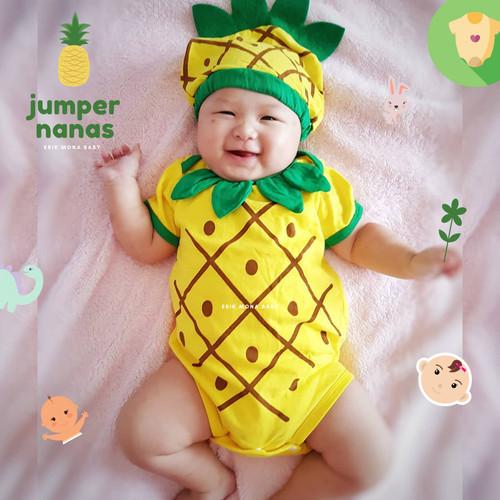 Foto Produk jumper bayi nanas / baby jumpsuit pineapple ermon - S dari ermon baby and kids