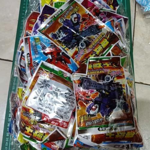 Foto Produk bongkar pasang robot plastik isi 50 pcs grosir dari difie toys
