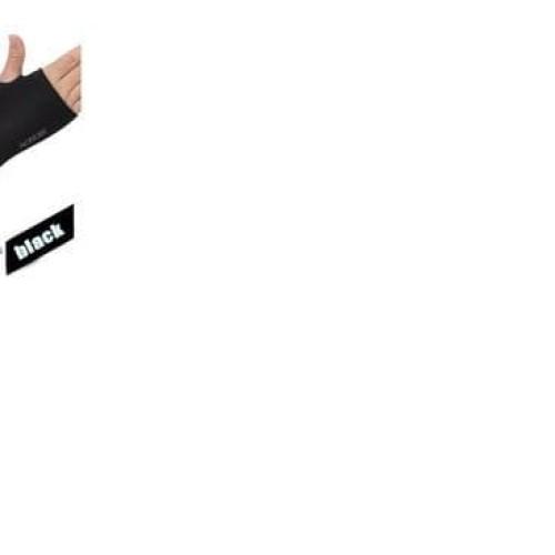 Foto Produk HOT SALE AONIJIE - ARM SLEEVES - sunscreen cuff - BLACK TERJAMIN dari jastinviara shop