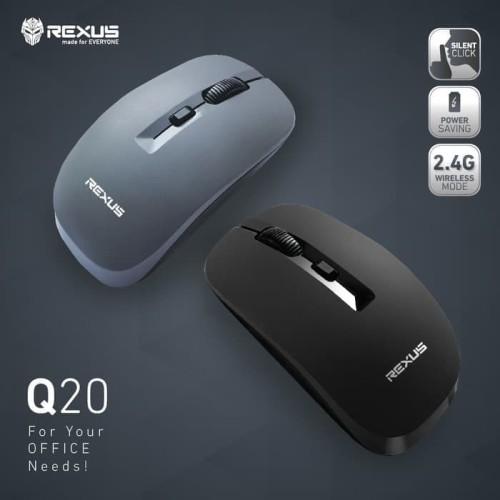 Foto Produk Rexus Q20 Mouse Wireless Office Silent Click - Hitam dari Trinity Plaza