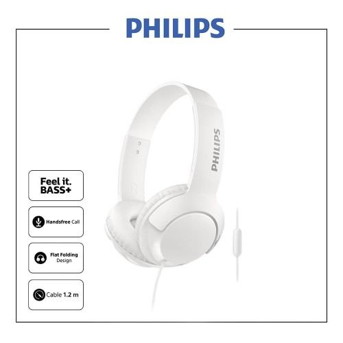 Foto Produk Philips BASS+ Headphone With Mic SHL 3075 - White dari Philips Audio Official